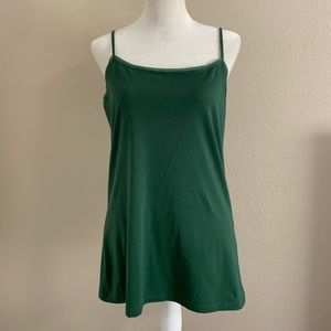 Ann Taylor Factory Camisole Tank Top XL Green